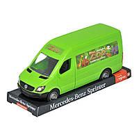 Автомобиль Tigres Mercedes Benz Sprinter грузовой зеленый на планшете 39715, КОД: 2431785