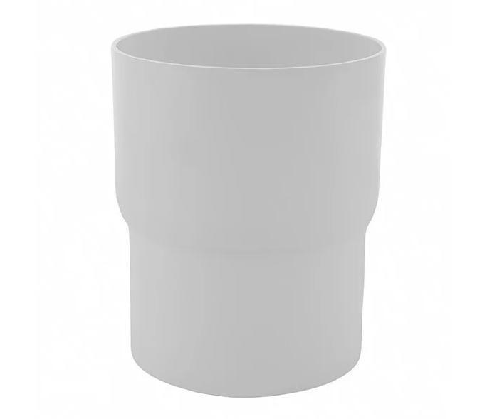 Соединитель трубы Profil Д=75мм, цвет белый