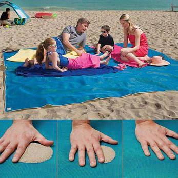 Пляжный коврик подстилка покрывало анти песок VOLRO SAND MAT 150х200 см Blue (vol-241), фото 2
