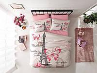 TAC Полуторный комплект постельного белья Giselle pembe