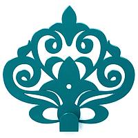 Вешалка настенная Крючок Glozis Ajur Turquoise H-062 11 х 10 см, КОД: 241745