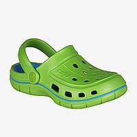 Сабо для мальчиков COQUI 6353 34 35 Lime Sea blue, КОД: 1921402