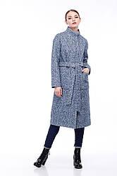 Женское пальто ORIGA Ирис 48 Сине-голубой с белым 02IRS-бел-син-гол48, КОД: 2373971