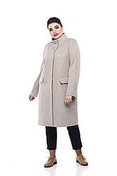 Женское пальто ORIGA Лада 50 Светло-бежевый 02Lada-св-беж50, КОД: 2374389