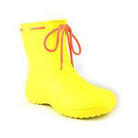 Сапоги женские резиновые EVA Jose Amorales с шнуровкой 39 р Желтый joa1192104, КОД: 2374713