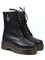 Женские зимние ботинки на платформе с мехом кожаная обувь Rosso Avangard Marty