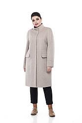 Зимнее женское пальто ORIGA Лада 54 Светло-бежевый 01LADA-U-св-беж54, КОД: 2379193