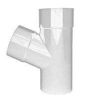 Тройник трубы Profil Д=75мм/75мм/67 градусов, цвет белый