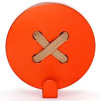 Вешалка настенная Крючок Glozis Button Orange H-025 8 х 8 см, КОД: 241777