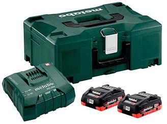 Базовый комплект Metabo LiHD 2x4,0 А ч + ASC Ultra + MetaLoc, КОД: 2403591