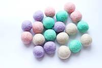 Набір шерстяних кульок Pugovichok Пастель 20 шт SUN3942, КОД: 1014566