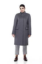 Женское пальто ORIGA Лада 56 Серо-синий 02Lada-сер-син56, КОД: 2374405