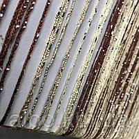 Тюль з нитяним шторами для будинку спальні кімнати, штора з ниток в зал хол кухню, штора нитка для квартири вітальні кабінету,, фото 5
