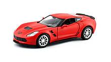 Автомодель Uni-Fortune Chevrolet Corvette C7 красная матовая серия 554039МВ, КОД: 2431663