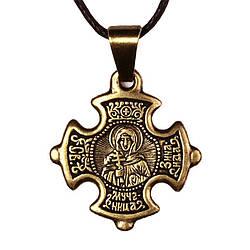 Крест нательный криновидный Зинаида Святая мученица Зинаида Тарсийская Металл медненный 3х2х0,2 с, КОД: