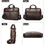 Мужская сумка мессенджер кожа, фото 3