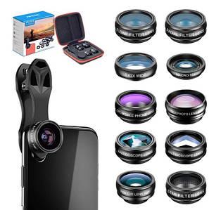 Набор объективов для телефона 10 в 1 APEXEL APL-DG10