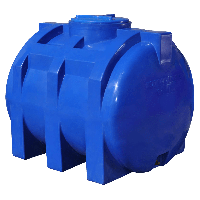 Емкость Рото Европласт горизонтальная двухслойная 750 л Синяя 41, КОД: 1881667