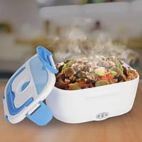 Ланч-бокс с подогревом от сети 220V Голубой Electric lunch box Контейнер для еды судок для обедов