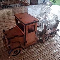 Міні-бар Машина із чарками та бочкою Коричневий В-020, КОД: 1641238