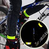 Слеп светоотражающий браслет фликер 30 см. Ширина 3 см. (Серого/Серебристого цвета, однотонные!), фото 3