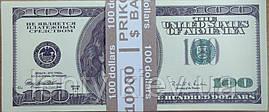 Сувенирные деньги 100 американских долларов (пачка 80 шт.) старого образца