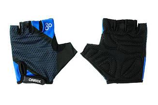Рукавички велосипедніOnRide TID L Black-Blue 2956563230140, КОД: 955051