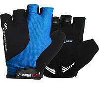 Велорукавички PowerPlay 5028 C XS Чорно-блакитні 5028DXSBlue, КОД: 1138518