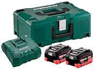 Базовый комплект Metabo LiHD 2x8,0 А ч + 1xASC Ultra + MetaLoc, КОД: 2403593