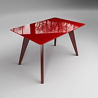 Стеклянный стол Sentenzo Леонардо 1100x640x750 мм Красный 44752072, КОД: 1556597