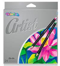 Карандаши цветные Colorino Artist мягкие 24 цвета 65221PTR, КОД: 2447038