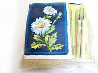 Набор Универсал для рукоделия техника ковровой вышивки 2 иглы «Ромашки» Разноцветный 32, КОД: 1747455