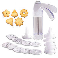 Кондитерский шприц с насадками Cookie Press YL-147 с 18 насадками 3740-11593, КОД: 1613087