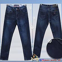 Джинсы мужские утеплённые классические синего цвета размер 30 и 31