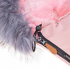 Детский конверт для коляски, санок 4 в 1 Springos SB0022 Pink, фото 2