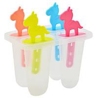 Формы для мороженого и фруктового льда пластик Stenson R30141 набор 4шт 14 см 112248, КОД: 2380727