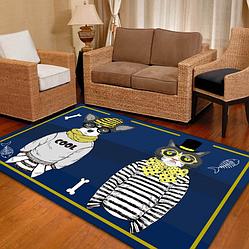 Безворсовый ковер на пол для детской