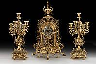 Набор Virtus Часы настольные NF + пара канделябров NF на 5 свечeй бронза 5632-4150SET, КОД: 303133
