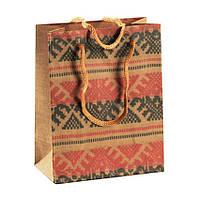 Сумочка подарочная Gift Bag Velcro Рушнык Украинская вышивка 14х11.5х6 см Натуральный 13646, КОД: 1347570