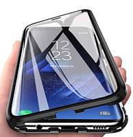 Магнитный чехол со стеклянной передней и задней панелью для Huawei P Smart 2019/Honor 10 Lite