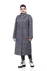 Женское пальто ORIGA Ирис 50 Сине-белый с черным 02IRS-син-бел-черн50, КОД: 2374013