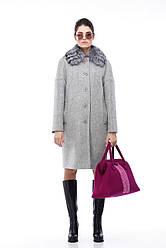 Зимнее женское пальто ORIGA Доменика 48 Светло-серый 01DMNKU-св-сер48, КОД: 2379176