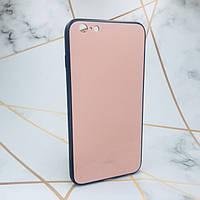Силиконовый чехол Glass case со стеклянной задней панелью для iPhone 6+ 6 Plus 6s Plus 12299, КОД: 1869164