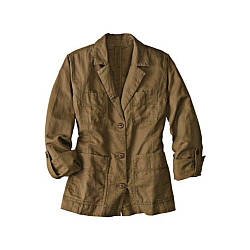 Куртка Eddie Bauer Womens Jacket Linen BROWN XL Светло-коричневый 7114375BR, КОД: 1164752