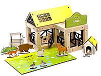 Деревянный эко-конструктор Zevs-toys Ферма 95 деталей 4003284, КОД: 1187162