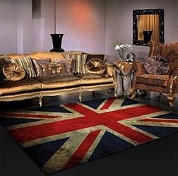 Безворсовый ковер на пол для зала, прихожей, спальни
