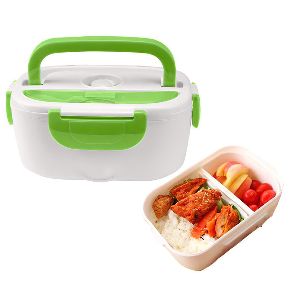 Ланч-бокс з підігрівом від мережі 220V Зелений Electric lunch box Контейнер для їжі судок для обідів