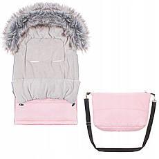 Детский конверт для коляски, санок Maxi 4 в 1 Springos SB0024 Pink, фото 2