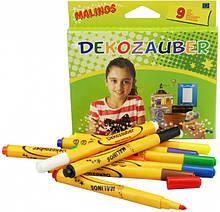 Фломастеры для декорирования нестираемые Malinos Dekozauber 9 шт MA-300034, КОД: 2446819