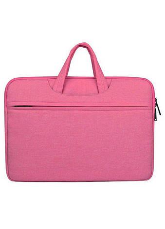 Тканевый чехол-сумка для MacBook 15 ARM защитный с ручками Pink, фото 2